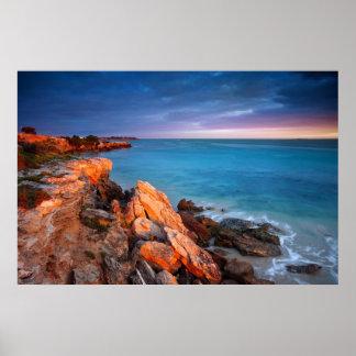 Poster do mar da natureza