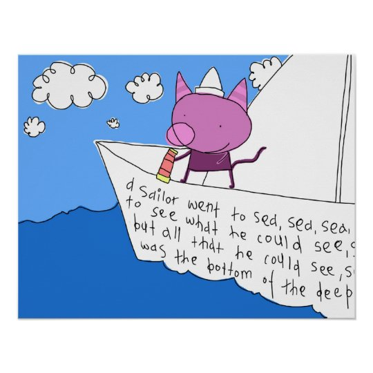 Poster do marinheiro do gatinho