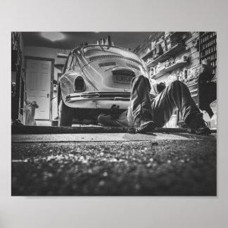 Poster do mecânico do reparo do carro