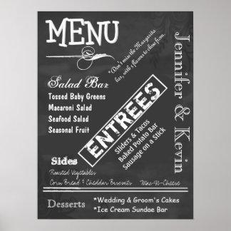 Poster do menu do casamento do olhar do quadro do  pôster