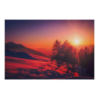 Poster do nascer do sol de Italia