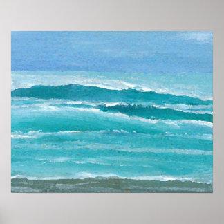 Poster do oceano de CricketDiane - dome o surf Pôster