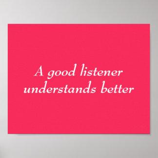 Poster do ouvinte
