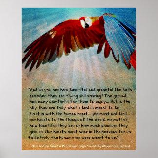 """Poster do papagaio com citações do """"ligamento não"""