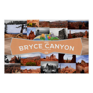 Poster do parque nacional da garganta de Bryce