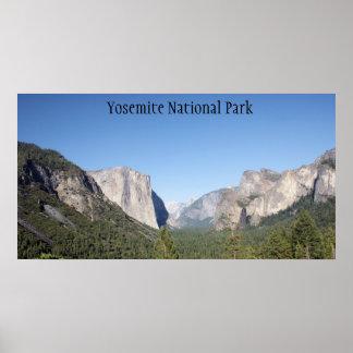 Poster do parque nacional de Yosemite