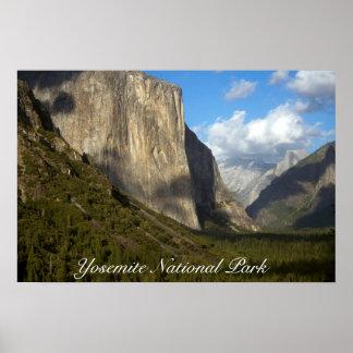 Poster do parque nacional de Yosemite Pôster
