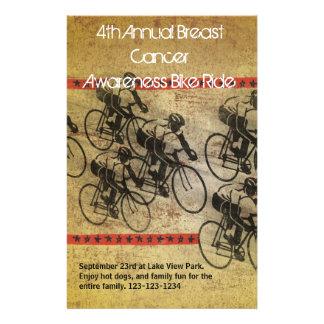 Poster do passeio da bicicleta flyer 13.97 x 21.59cm