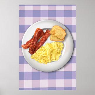 Poster do pequeno almoço de Ron Swanson da grandez
