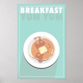 Poster do pequeno almoço Yum