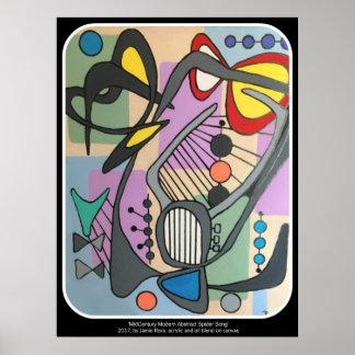 """Poster Do """"pintura da canção da aranha da modificação"""