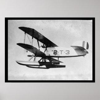 Poster do plano do torpedo do vintage