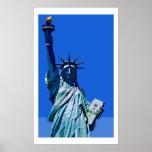 Poster do pop art da estátua da liberdade