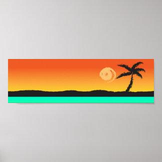Poster do por do sol da ilha