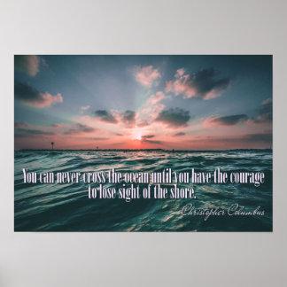 Poster do por do sol das citações de Columbo