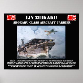 Poster do porta-aviões de IJN Zuikiaku