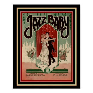 """Poster Do """"poster 16 x 20 da partitura do bebê jazz"""" do"""