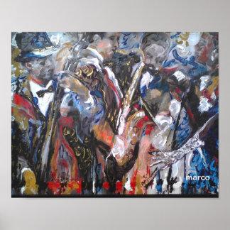 """Pôster Do """"poster da banda de jazz da arte"""