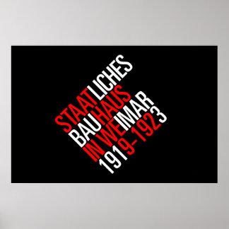 Poster do preto da coleção do Bauhaus