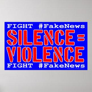 Poster do protesto dos #FakeNews da luta