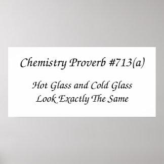 Poster do provérbio da química