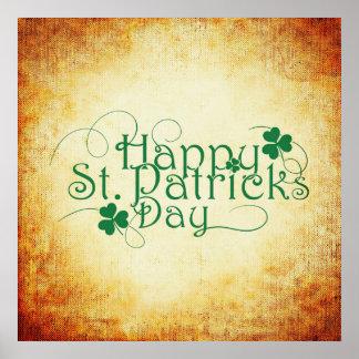 Poster do quadrado do dia de St Patrick feliz