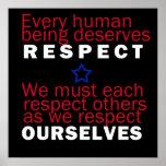 Poster do respeito nós
