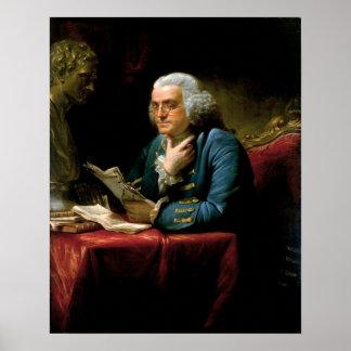Poster do retrato de Benjamin Franklin