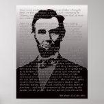 Poster do retrato do endereço de Abraham Lincoln G