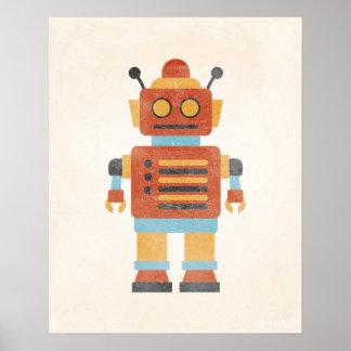 Poster do robô do vintage