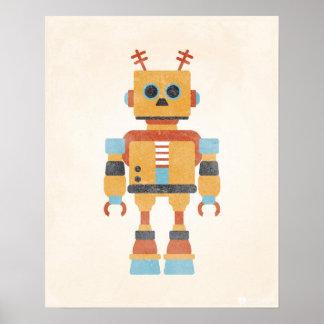 Poster do robô do vintage pôster