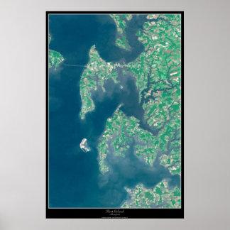 Poster do satélite da ilha de Kent, Maryland