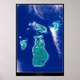 Poster do satélite da ilha do castor, Michigan