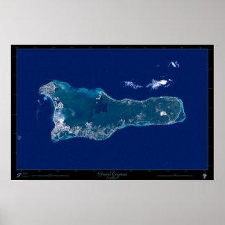 Poster do satélite de Grande Caimão