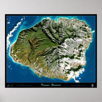 Poster do satélite de Kauai, Havaí