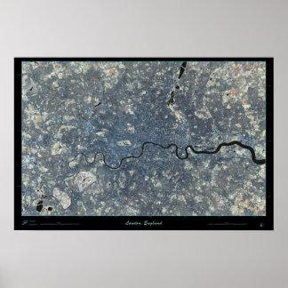 Poster do satélite de Londres, Inglaterra