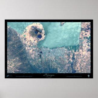 Poster do satélite de Managua, Nicarágua