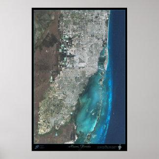 Poster do satélite de Miami, Florida