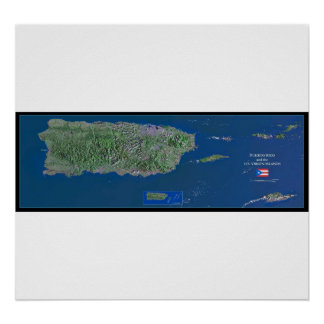 Poster do satélite de Puerto Rico