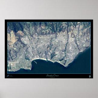 Poster do satélite de Santa Cruz, Califórnia