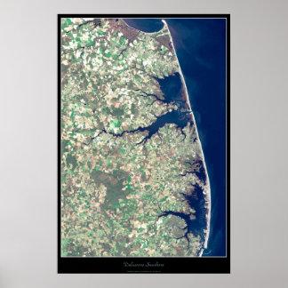 Poster do satélite do litoral de Delaware