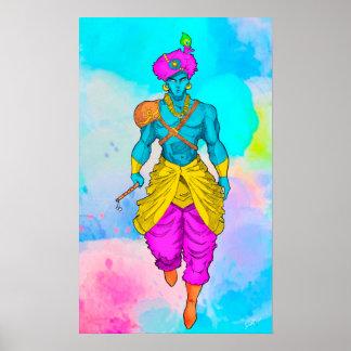 Poster do senhor Krishna colorido