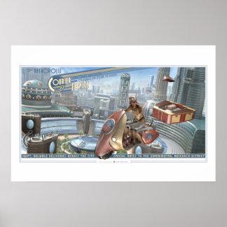 Poster do serviço de correio de Retropolis