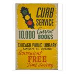 Poster do serviço do freio da biblioteca pública d cartões postais