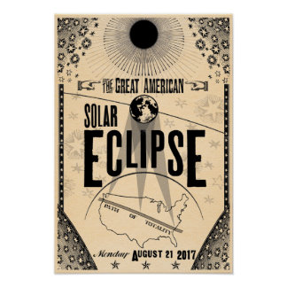 Poster do Showprint-Estilo de 2017 eclipses