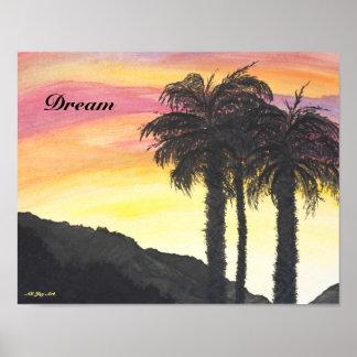 """Poster do """"sonho deserto"""" por toda a arte da"""