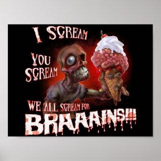 poster do sorvete do zombi