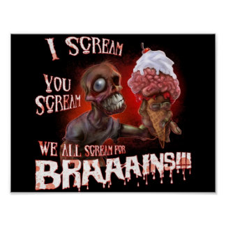 poster do sorvete do zombi pôster