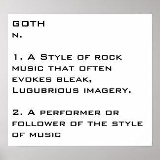 poster do substantivo do gótico