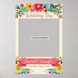 Poster do suporte da festa de casamento para a